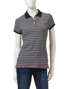 U.S. Polo Assn. Black Shirts & Blouses