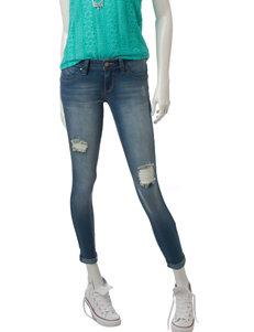 YMI Wanna Betta Butt Distressed Skinny Jeans