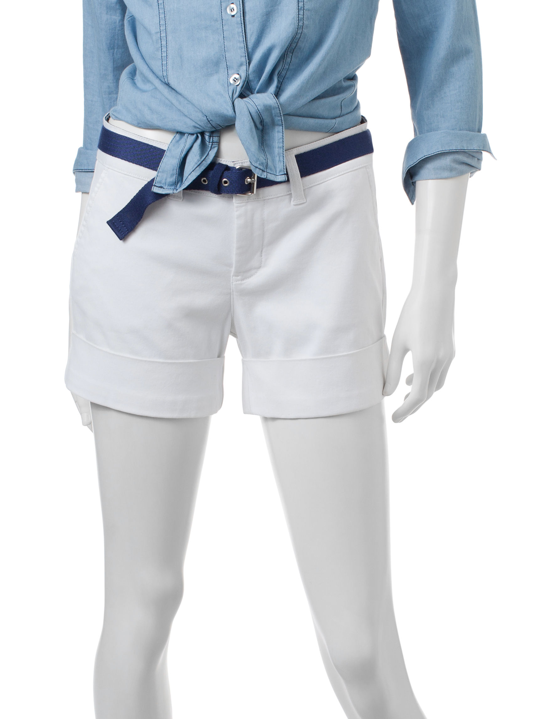 U.S. Polo Assn. White Tailored Shorts