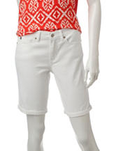 U.S. Polo Assn. White Wash Bermuda Shorts