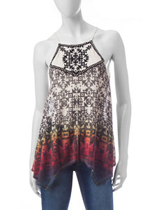 Jolt Ombré Embroidered Halter Top