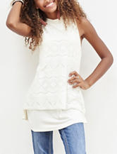 Self Esteem Solid Lace Front Top