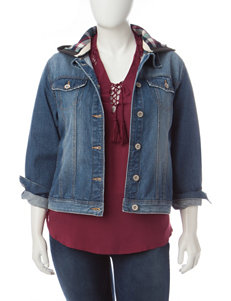 Amethyst Juniors-plus Medium Wash Denim Jacket