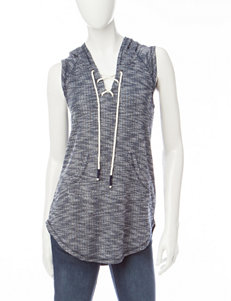 Inspired Hearts Hacci Knit Hoodie Tank Top