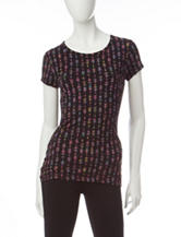 Wishful Park Multicolor Arrow Print Top
