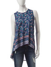 Wishful Park Floral Print Hi-Lo Top