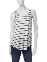 Living Doll Striped Waffle Knit Tank Top