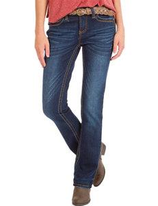 Unionbay® Belted Dark Wash Skinny Bootcut Jeans
