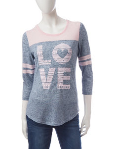 Almost Famous Jersey Striped Love Top