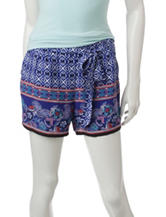 My Michelle Multicolor Paisley Print Woven Shorts