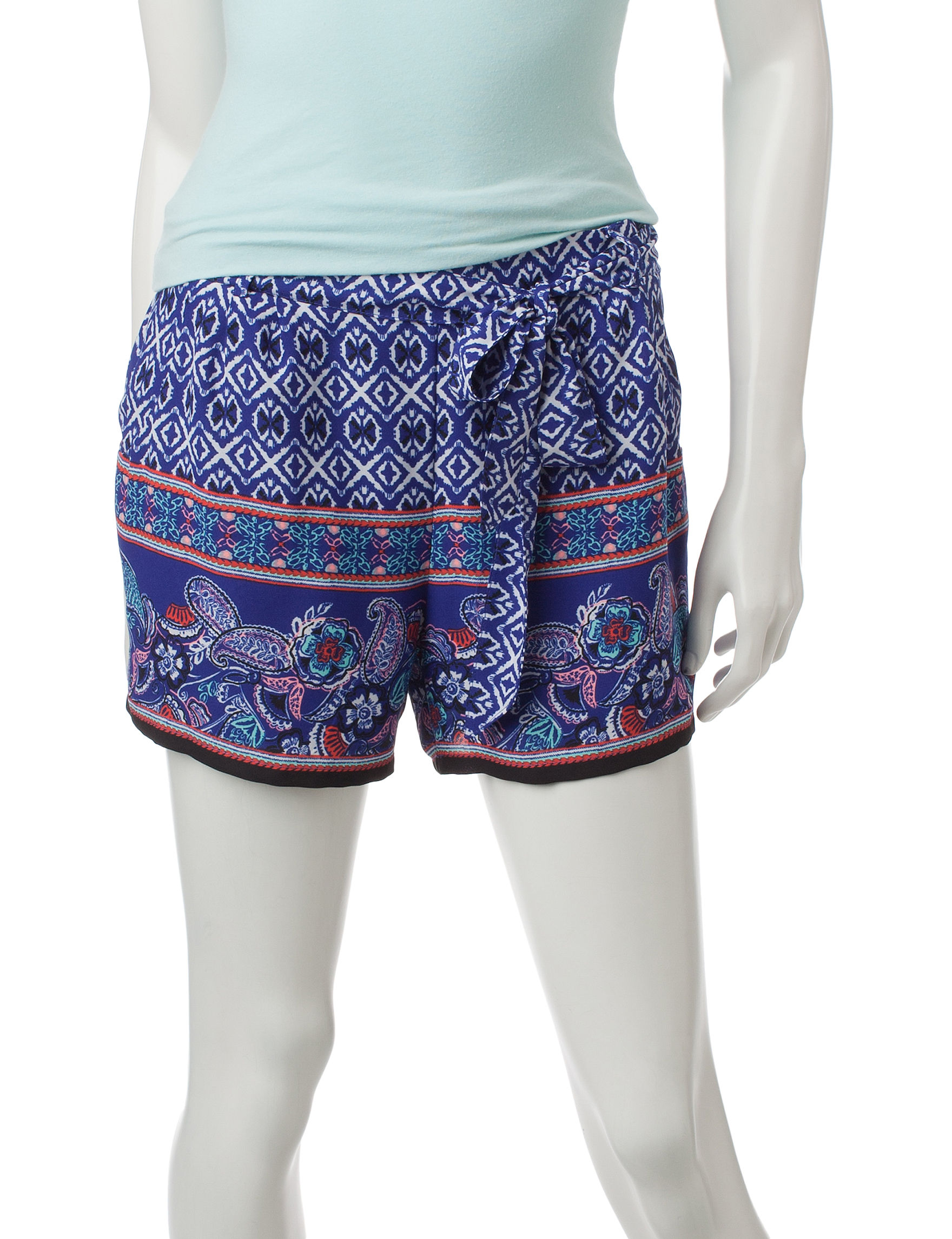 My Michelle Cobalt Blue Soft Shorts