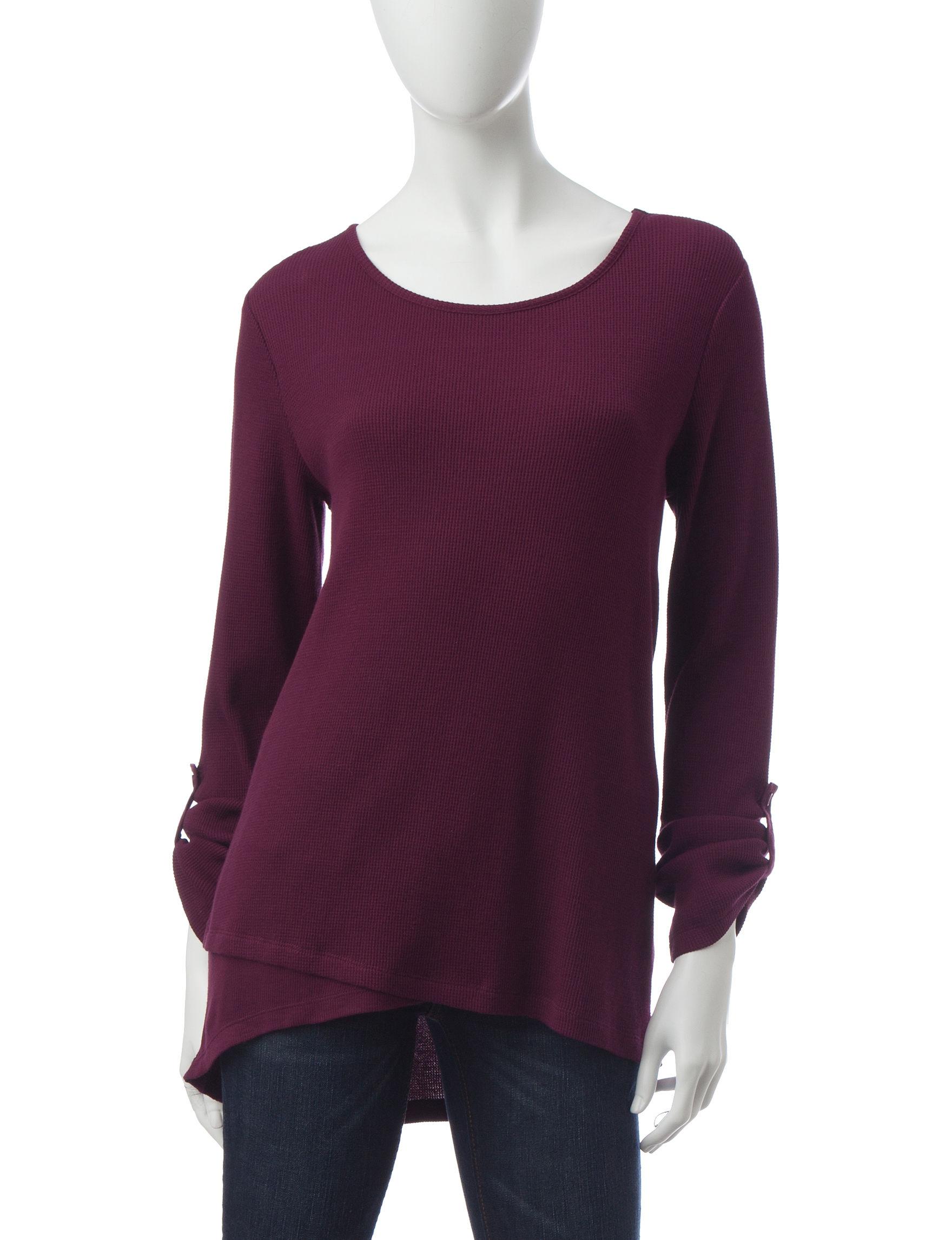 Signature Studio Burgundy Shirts & Blouses