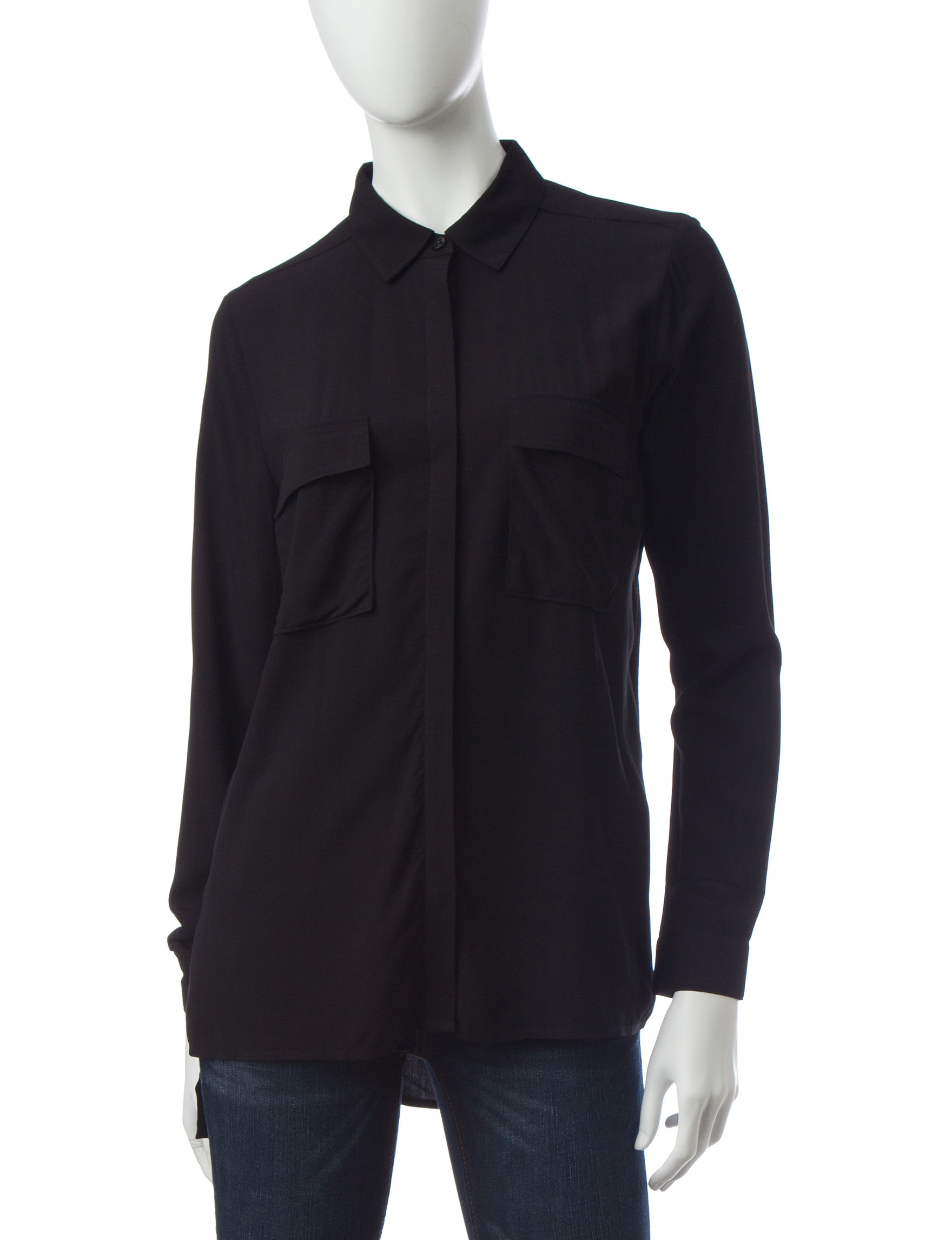 Signature Studio Black Shirts & Blouses