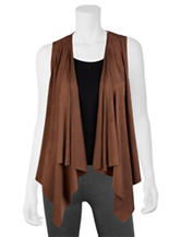 A. Byer Perforated Faux Suede Vest