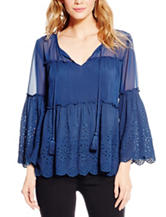 Jessica Simpson Rayna Eyelet Peasant Top