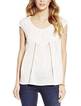 Jessica Simpson Alaia Knit Embroidered Top
