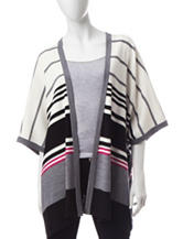 Signature Studio Variegated Striped Knit Cardigan