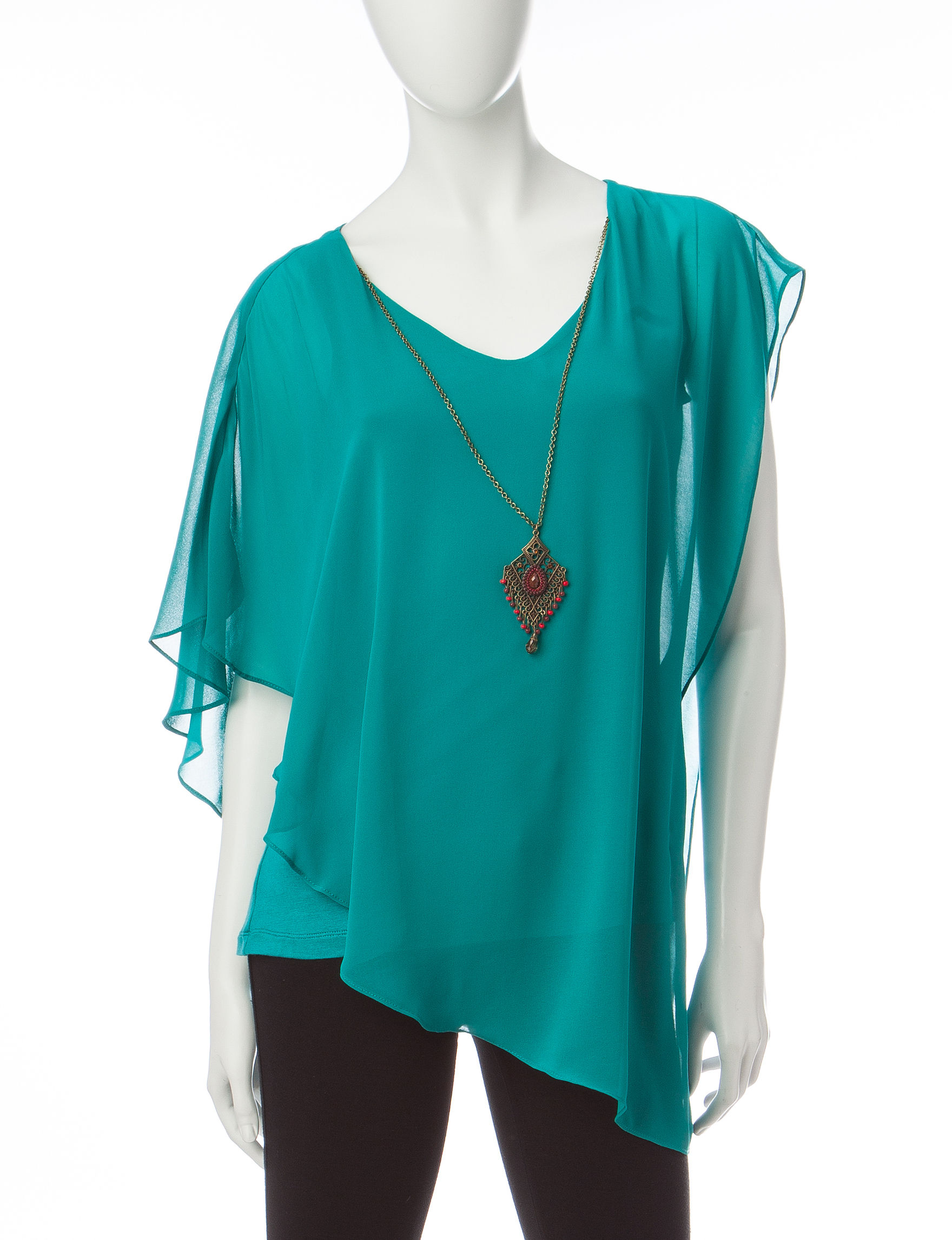 A. Byer Teal Shirts & Blouses