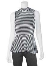 A. Byer Black & White Striped Top