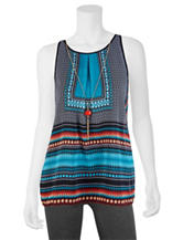 A. Byer Square Aztec Print Top