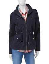 Ashley Navy Hooded Anorak Jacket