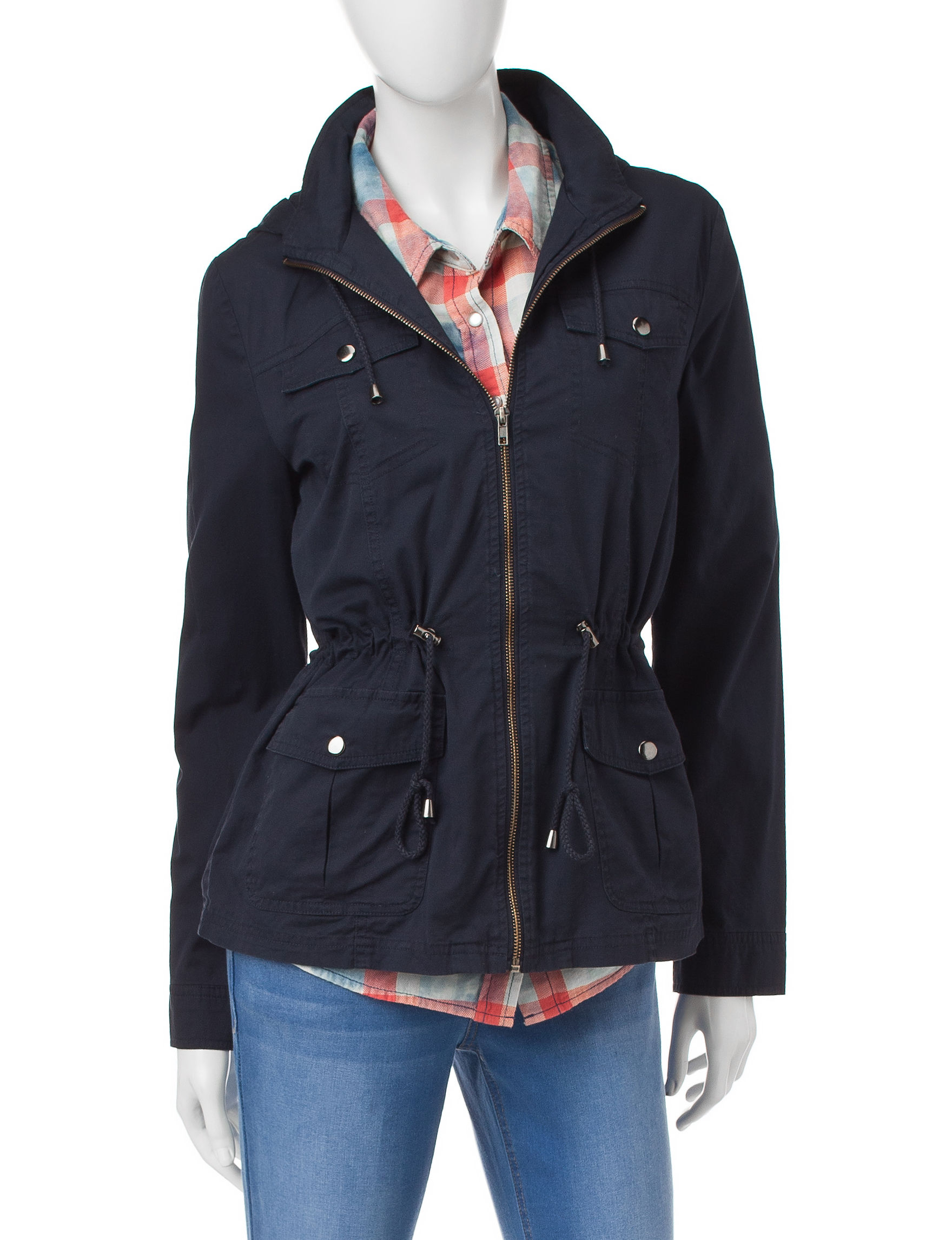 Ashley Navy Fleece & Soft Shell Jackets