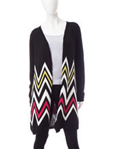 Signature Studio Multicolor Chevron Knit Cardigan