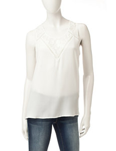 Wishful Park Lace Woven Top