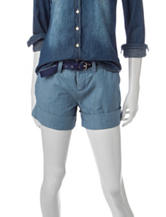 U.S. Polo Assn. Belted Chambray Shorts