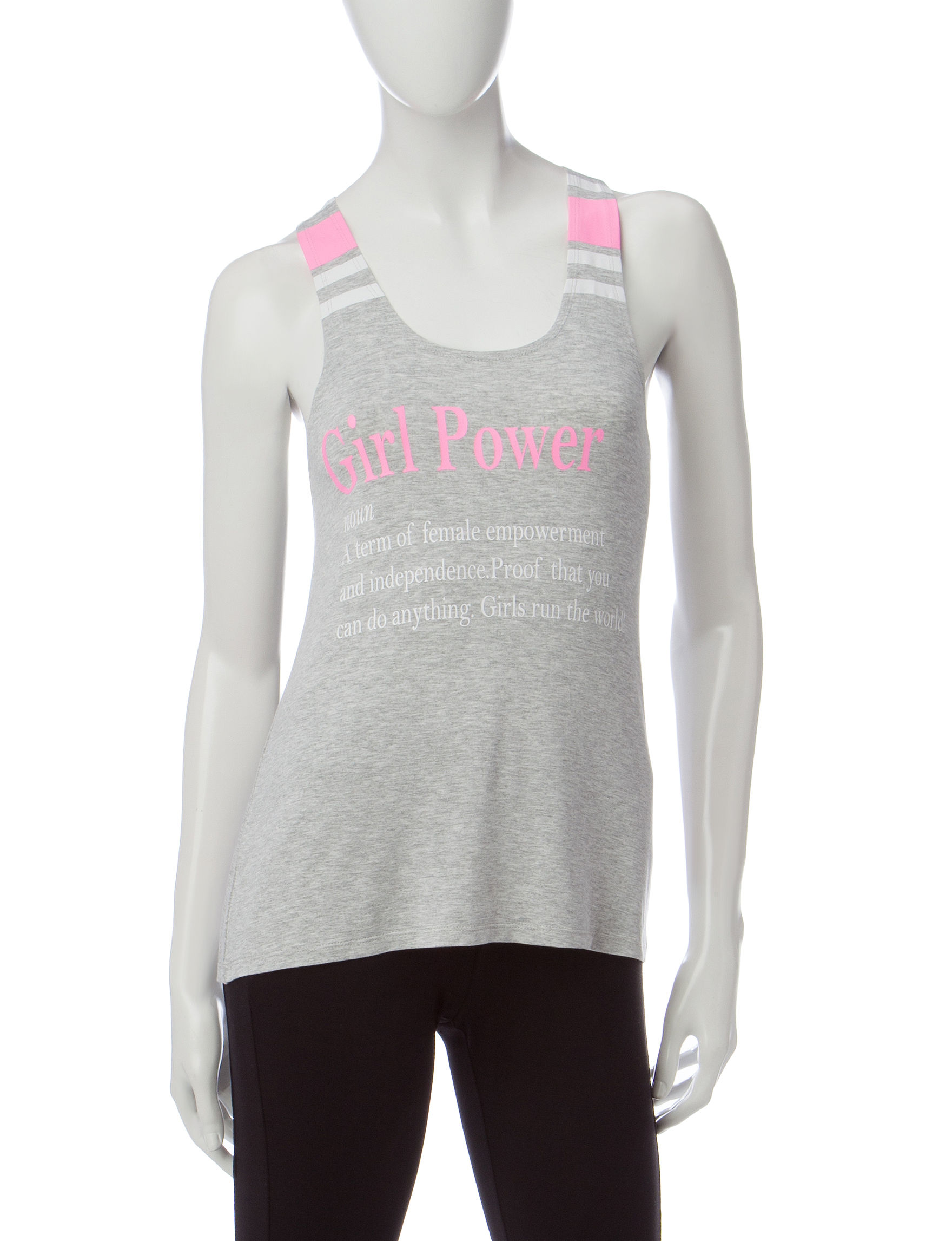 Electric Pink Grey Camisoles & Tanks