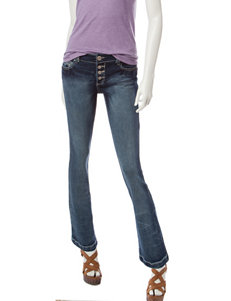 Amethyst Light Wash Distressed Bootcut Jeans