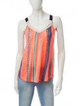 Jolt Multicolor Striped Tank Top