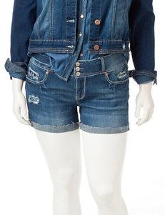 Amethyst Medium Wash Cuffed Denim Shorts