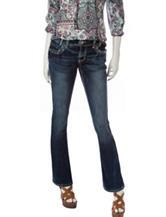 Amethyst Medium Wash Distressed Bootcut Jeans