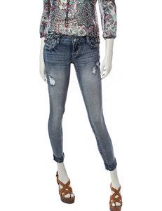 Amethyst Light Acid Wash Girlfriend Jeans