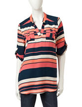 Wishfull Park Multicolor Striped Chiffon Top