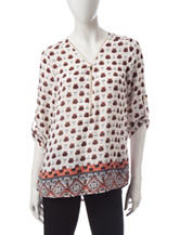 Wishful Park Multicolor Boho Print Top