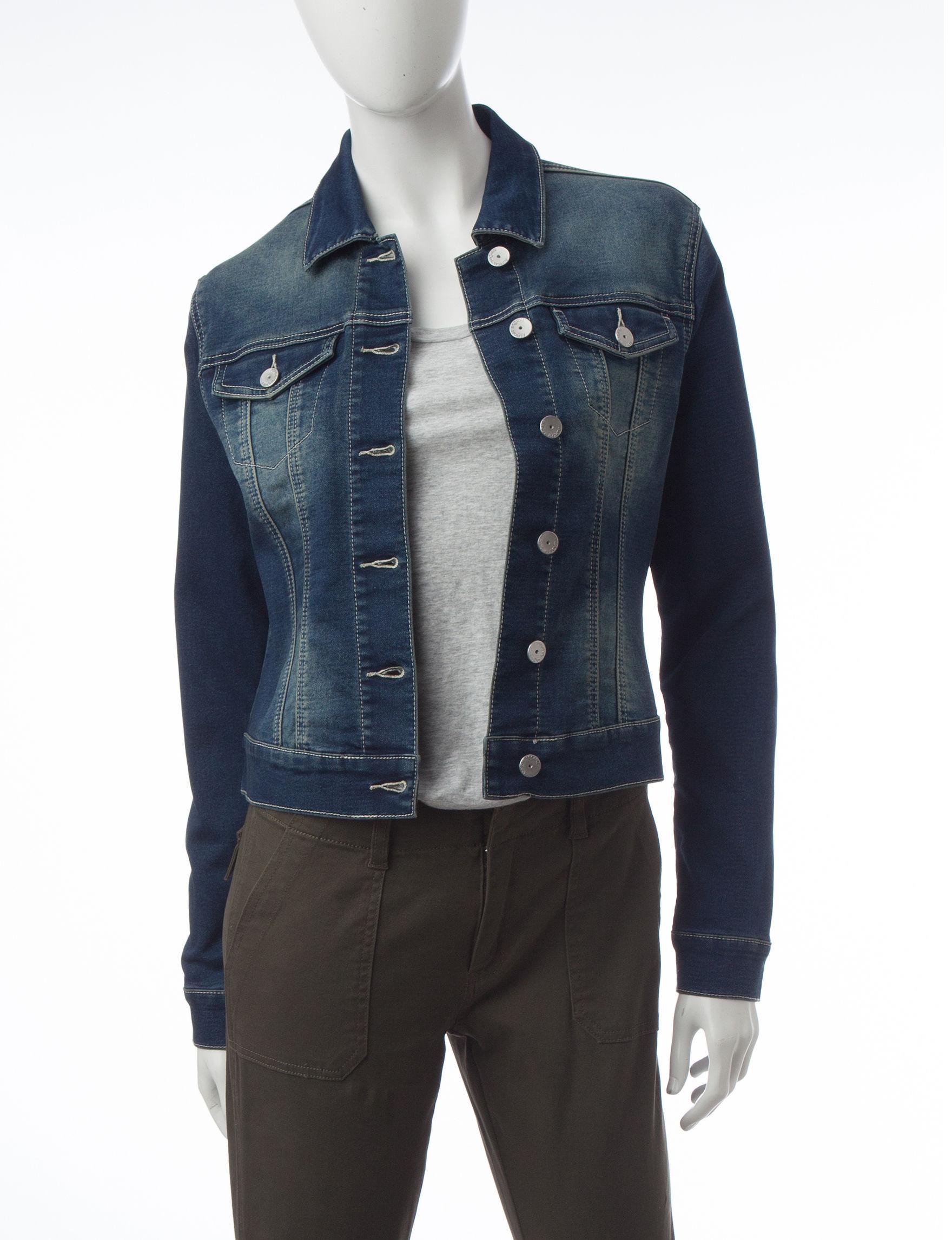 Almost Famous Dark Wash Lightweight Jackets & Blazers