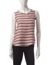 Wishful Park Multicolor Striped Print Tank Top