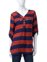 Wishful Park Thick Striped Popover Top