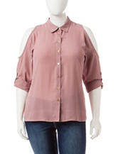 Justify Juniors-plus Cold Shoulder Top