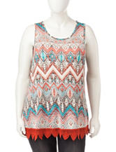 Ultra Flirt Multicolor Chevron Knit Top