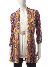 Heart Soul 3-pc. Paisley Print Top & Jacket Set