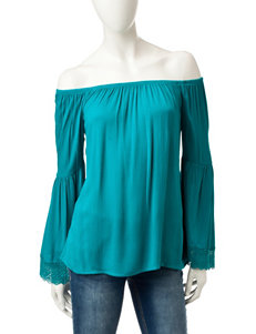 Heart Soul Teal Shirts & Blouses