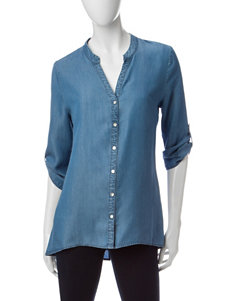 Heart Soul Denim Blue Shirts & Blouses