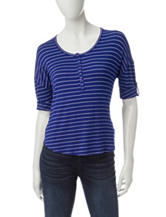 Wishful Park Henley Striped Top