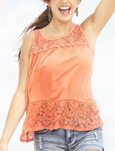 Eyeshadow Double Lace Knit Top