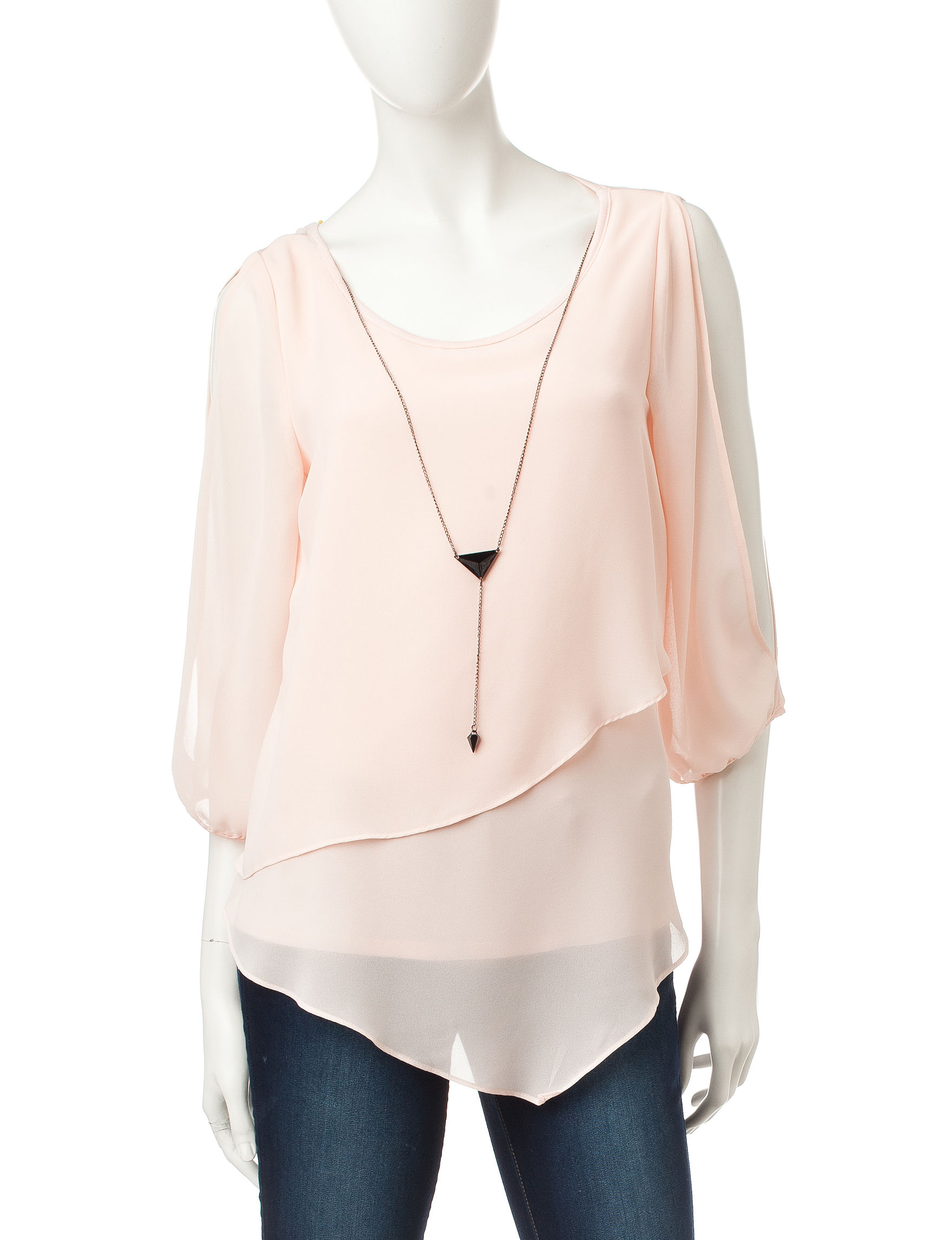 A. Byer Blush Shirts & Blouses