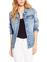 Jessica Simpson Peri Embroidered Denim Jacket