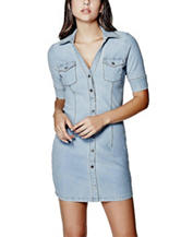 G by Guess Light Wash Denim Dress